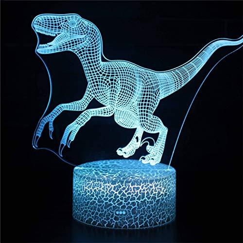 YXMxxm Dinosaurier-Nachtlichter für Kinder, 3D Lava-Lampe, Nachtlichter für Nachttischlampe für Kinder 7 Farben ändern Sich, als Geschenk für Jungen oder Mädchen,17