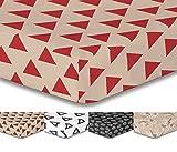 decoking Premium lenzuolo con angoli Steg 30cm lenzuolo lenzuola in microfibra garnituren Black White Hypnosis Collection, Microfibra, TrianglesC1, 120 x 200