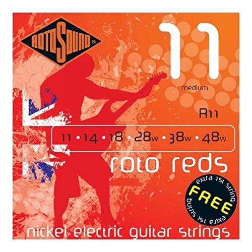 Rotosound Nickelsaiten für E-Gitarren, Stärke Medium 14 18 28 38 48 (Saiten Rotosound E-gitarre)