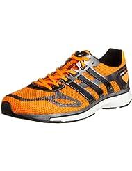 Adidas Adizero Adios Boost - Zapatillas de correr para hombre, color naranja y negro
