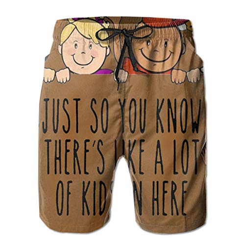 Men's Swim Trunks World Child Day Casual Sportswear Quick Dry Beach Shorts for Boys Summer XXL (Spooner Xl Reyn)