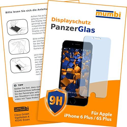 mumbi 3D Touch Panzerglasfolie iPhone 6 Plus 6s Plus Glasfolie Hartglas 9H (bewusst kleiner als das Display, da dieses gewölbt ist)