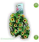 W01171005 Fahrradgirlande Blumengirlande Sonnenblume gelb 120 cm