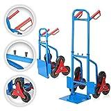 MAXCRAFT Sackkarre Treppenkarre bis 200 kg klappbar Treppensackkarre Transportkarre Treppensteiger
