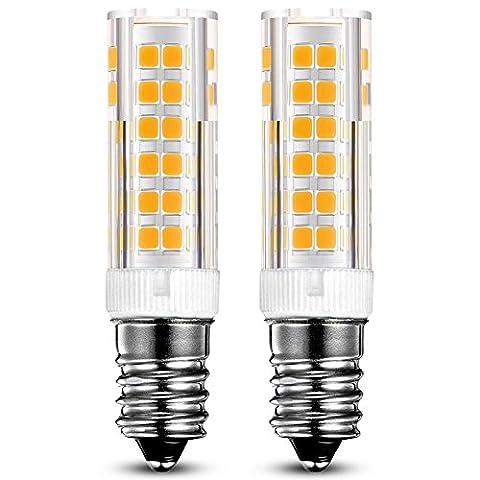 KINDEEP E14 LED Glühlampe - 7W / 450LM, 60W Halogenlampen Ersatz, Warmweiß 3000K, 360° Abstrahlwinkel, Kühlschranklampe/Dunstabzugsh