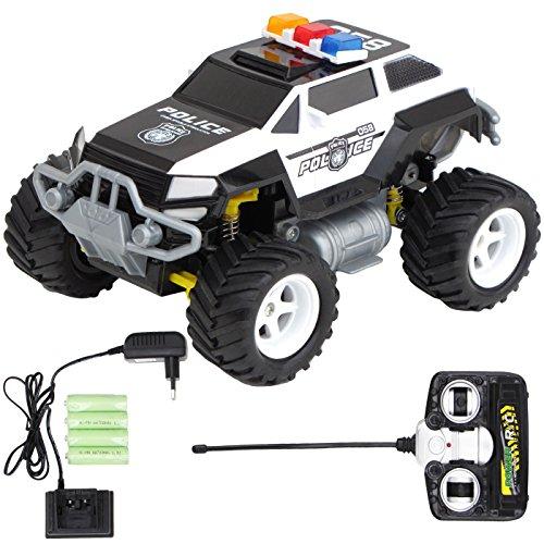 ferngesteuerte polizeiautos Diawell RC ferngesteuertes Polizei Auto Polizeiauto Truck mit Akku und Ladegeräte Vollfederung Warnlicht