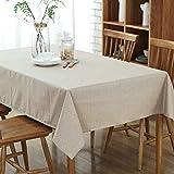 JJHR Nappe Table Basse En Coton Et Lin Nappe Imperméable Nappe En Tissu