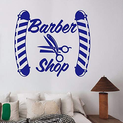 Wandaufkleber Barber Shop Logo Vinyl Wandtattoos Fensterdekorationen