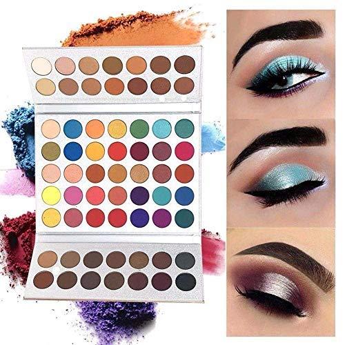 Beauty Glazed 63 Farben Professionelle Mineral Pigment Lidschatten Palette Matte Langlebig & Schimmer Lidschatten Palette Warm Glitter Eyeshadow Palette Augen Schatten Beauty Makeup
