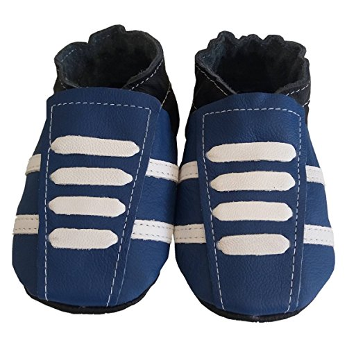 bbkdom, Jungen Babyschuhe - Krabbelschuhe & Puschen  blau blau Pointures 24-25 (2 à 3 ans)e blau