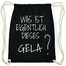 JOllify Gela Hipster Sacca Borsa Zaino in cotone–colore: nero, Design: Was ist eigentlich