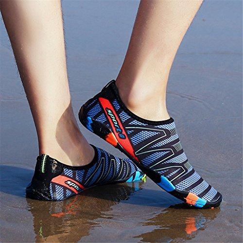 HUSKSWARE Wasserschuhe Aquaschuhe Badeschuhe Schnell Trocknend Slip on Breathable Strandschuhe Schwimmschuhe Barfuß Schuhe Für Herren Damen Graublau