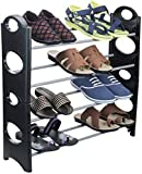 Shoe Rack 4 Shelves /Shoe Shelf/Shoe Cabinet, Easy Installation Stand for Shoes-Multicolor-Multipurpose-Easy to carry