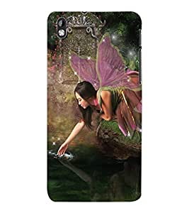 ColourCraft Lovely Angel Design Back Case Cover for HTC DESIRE 816