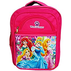 Worldcraft Princess 16 inch Pink Waterproof Children's School Backpack (4beautyWCAr)