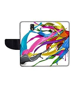 KolorEdge Printed Flip Cover For Samsung Galaxy Note 3 Neo Multicolor -(55KeMLogo12428SamN750)