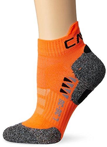 CMP Herren Running Skinlife Socken, Orange Fluo, 39/42