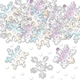 Confeti: Copos de Nieve Iridiscente Xmas