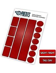 Stickers Reflection 13 Pièces | Bande Velo, VTT, Casque, Moto, Cyclisme | Autocollant Luminaire | Securite Enfant | Sécurité pour Nuit | Utilisation Universelle | Efficace et Durable | De Paents