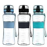 Super Sparrow Sports Wasser-Flasche Trinkflasche - Eco Friendly & BPA-freiem Kunststoff - f�r das Laufen, Fitness, Yoga, Im Freien und Camping - Schnelle Wasserdurchfluss , Flip Top, �ffnet sich mit 1 Bild