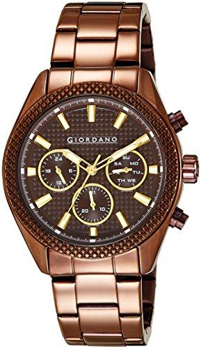 51sN%2BX6R9VL - Giordano 1723 77 Brown Mens watch