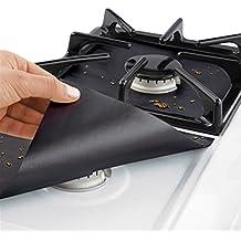 Cubiertas para Quemador de Estufa de Gas Limpia Protector de la Estufa Hoja de 0.2 mm