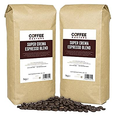 Coffee Masters Super Crema Espresso Coffee Beans (4x1kg) by Coffee Masters