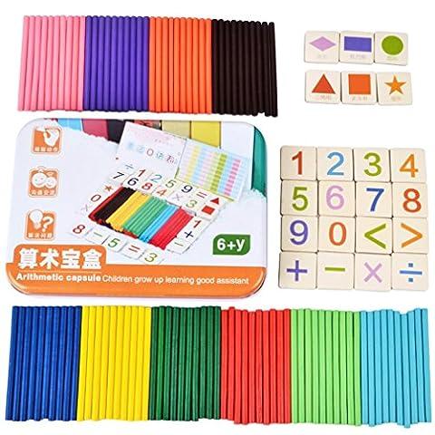 Kinder Mathe Intelligenz Aufkleber Magnetische Zähler Aufkleber Abbildung Arithmetische Mathe Puzzles Early Learning Hölzerne Spielzeug für 5 Jahre altes