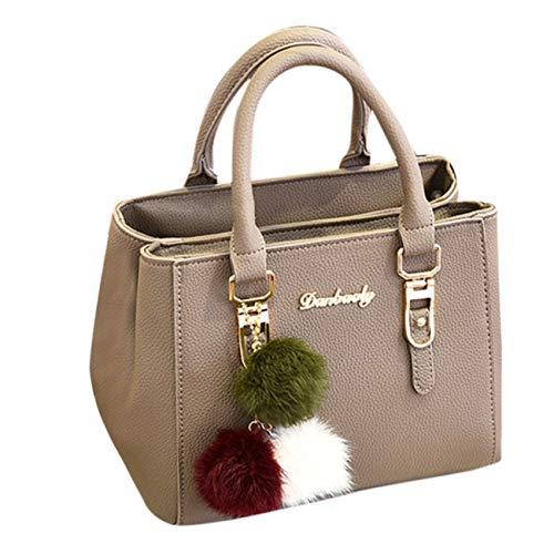 Borsa a mano donna con paillettes in tote borsa a tracolla messenger bag borse a spalla grande capacità vintage elegant moda fit shopping partito outdoor viaggi (taglia unica, cachi)