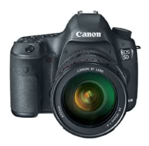 Canon EOS 5D Mark 3 22.3MP Digital SLR Camera with 24-105 mm Lens (Black)