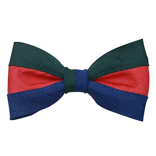 Original-Designer reine Seide Fliege Hochzeit rot Mode Party grün blau Fliege (Handgemachte Seide Krawatte Weiß-gestreift)