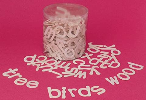 Bucket of Wooden Lower Case Alphabet Letters - Contains 12