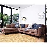 De Eekhoorn Eckgarnitur NATE Taupe Wildlederoptik Couch Sofa Ecksofa Eckcouch Longchair Links