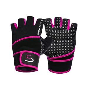SHOWTIMEZ Trainingshandschuhe Fitness Handschuhe Grips für Gewichtheben – S, M, L, XL