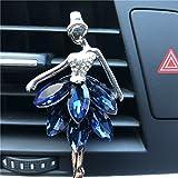 GYPO Strass Ballerine Fille De Ballet de Sortie parfumé Diffuseur de Parfum Désodorisant Clip de Voiture Déodorant Bleu