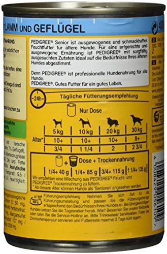 Pedigree Senior Hundefutter Lamm und Geflügel, 12 Dosen (12 x 400 g) - 3