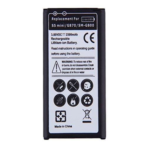 Heraihe Ersatz-Lithium-Ionen-Akku für Samsung Galaxy S5 Mini / G870 / SM-G800 2300mAh keinen Memory-Effekt