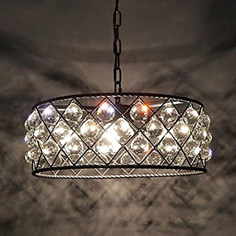 LED Chandelier Iron Crystal Hollow Chandelier Retro Simple E27 5 Light 40W Ceiling Light Coffee Shop Restaurant Learning, Bedroom, Exhibition Hall, Hotel,