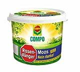 COMPO Rasendünger Moos - Nein danke! Für einen krätigen, sattgrünen Rasen der neuer Moosbildung vorbeugt, 7,5 kg für 300 m²