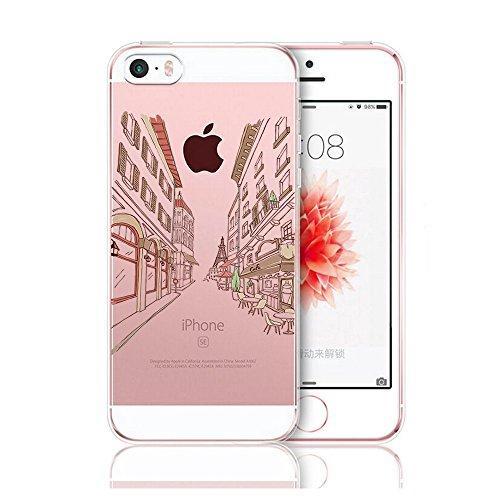 Qissy®TPU Case für iPhone 5 5S SE -Silikon-Hülle Soft Shell-Fall-Schutz Anti Shock Silikon Anti-Staub-beständig Tierischer Elefant (iPhone 5 5S SE, 5) 11