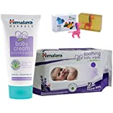 Himalaya Herbals Baby Cream (100g)+Himalaya Herbals Soothing Baby Wipes (72 Sheets) With Happy Baby Luxurious Kids Soap With Toy (100gm)