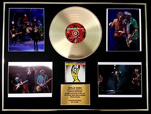 THE ROLLING STONES/GIGANTIC Goldene Schallplatte/RECORD & Foto-Darstellung/Limitierte Edition/COA/VOODOO LOUNGE (Rock-star Lounge)