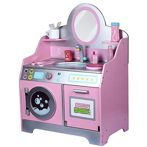 Zhangcaiyun Küchen-Sets für Kinder Badezimmer-Toiletten-Kabinett-Wäsche-Tabellen-hölzernes Puppenhaus-Möbel-Badezimmer-Waschbecken-Kind täuschen Spiel-Spielzeug vor Küchenspielsets
