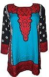 Odishabazaar Women Crepe A-Line Kurta (F...