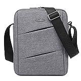 Srotek 10,6 Zoll kleine Nylon Schultertasche Herren Umhängetasche Herrentasche Kuriertasche Casual Messenger Bag für Reisen/Wandern/Outdoor-Sport