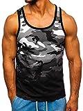 BOLF Canotta - Maglietta - Tank Top - Ombreggiature - Casual - Uomo J.Style 100813 Griga M [3C3]