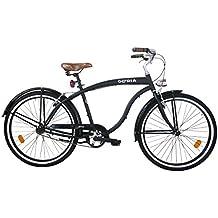 """Cicli Gloria Loreto Bicicletta Cruiser, 26"""", Monovelocita, Nero matte"""