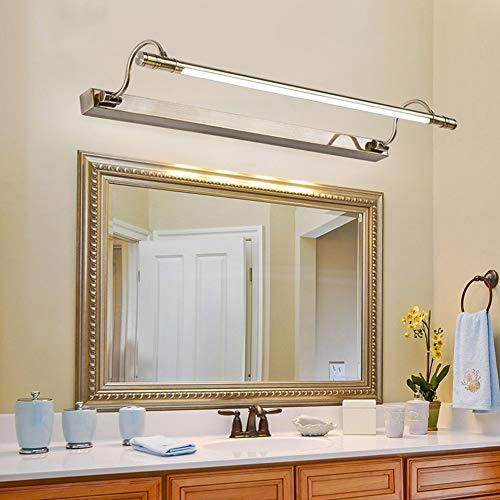 SSLW Badezimmerspiegelleuchte LED Badezimmerspiegel Schranklampe Make-up Lampe Grüne Bronze Spiegelleuchte,Bronze,660x175x30mm (Spiegel In Voller Länge, Grün)