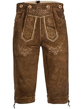 Herren Trachten Lederhose in Antikbraun Kniebundlederhose von Bongossi-Trade Gr 46-60