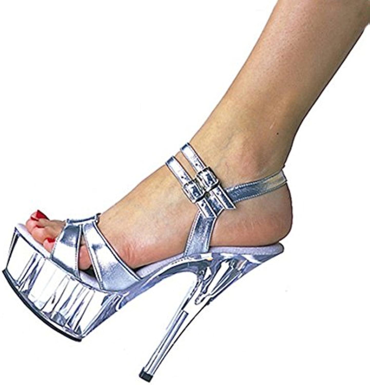 YMFIE verano está bien con temperamento sexy moda toe sandalias de tacón señoras parte zapatos de tacón alto de... -
